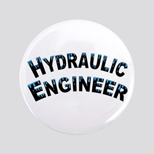 "Hydraulic Engineer Water Droplets 3.5"" Button"