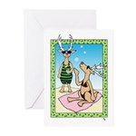 Reindeer on Vacation Greeting Cards (10) Happy Hol