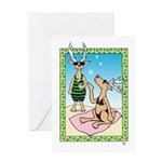 Reindeer on Vacation Greeting Card Happy Holidays