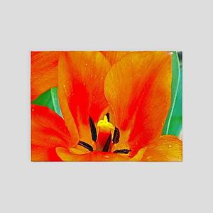 Orange Tulip 5'x7'Area Rug
