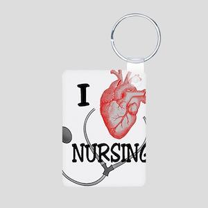 I Heart Nursing Keychains