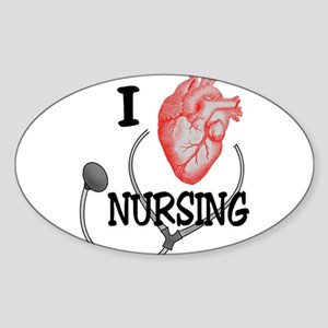 I Heart Nursing Sticker