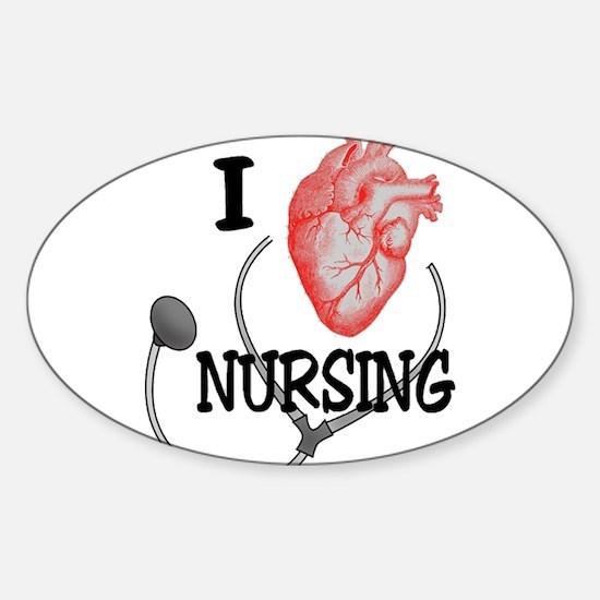 I Heart Nursing Decal