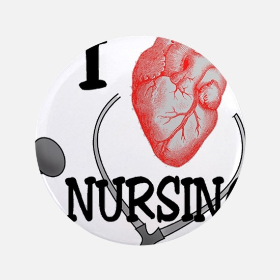 I Heart Nursing Button