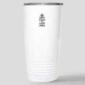 Keep Calm and Love ABBA Stainless Steel Travel Mug
