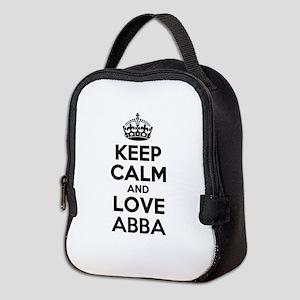 Keep Calm and Love ABBA Neoprene Lunch Bag