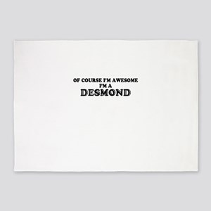 Of course I'm Awesome, Im DESMOND 5'x7'Area Rug