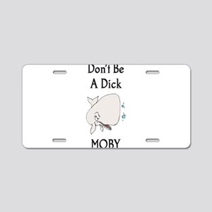 moby dick Aluminum License Plate