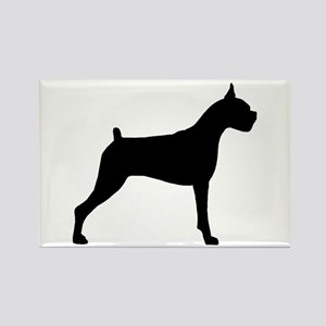 Boxer Dog Rectangle Magnet