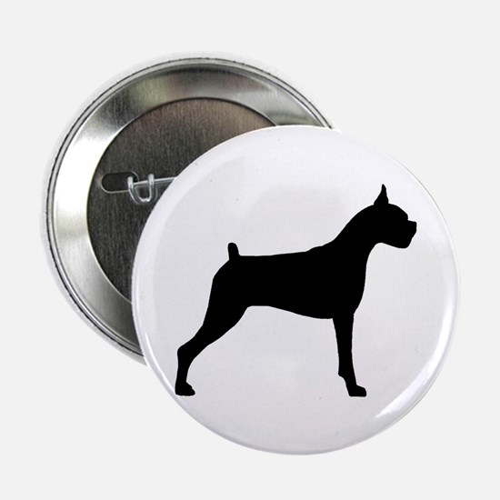 Boxer Dog Button