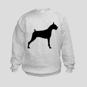 Boxer Dog Kids Sweatshirt