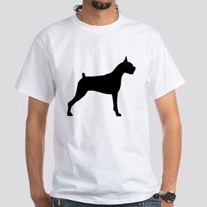 Boxer Dog White T-Shirt