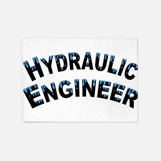 Hydraulic Engineer Water Droplets 5'x7'Area Rug