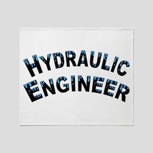 Hydraulic Engineer Water Droplets Throw Blanket