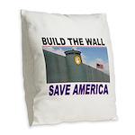THE WALL Burlap Throw Pillow