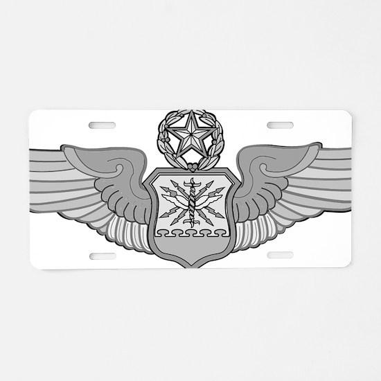 MASTER NAVIGATOR WINGS Aluminum License Plate