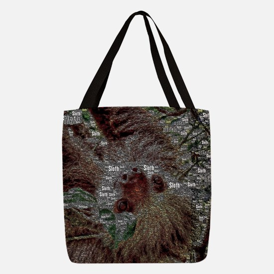 WordArt Sloth Polyester Tote Bag