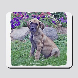 Great Dane Puppy in Summer Mousepad