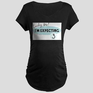 Lucky Me - Triplet Maternity T-Shirt