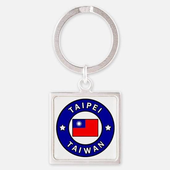 Unique Taiwanese Square Keychain