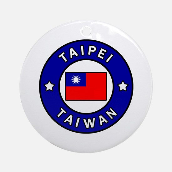 Cute Taiwan Round Ornament