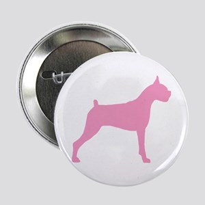 Pink Boxer Dog Button
