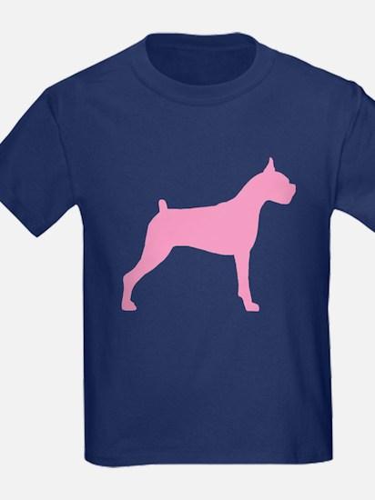 Pink Boxer Dog T
