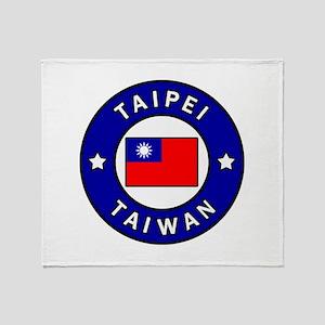 Taipei Taiwan Throw Blanket
