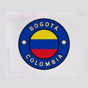 Bogota Colombia Throw Blanket