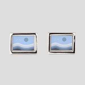 Zen (horizontal) Rectangular Cufflinks