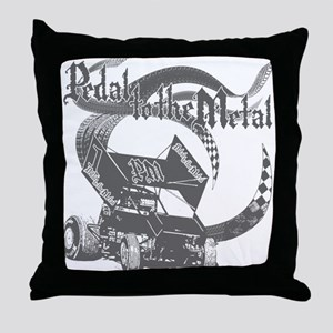 Pedal to the Metal - Grey Throw Pillow