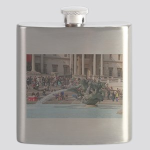 Fountain, Trafalgar Square, London, England Flask