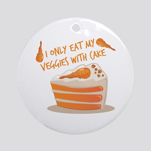 Veggie Cake Round Ornament