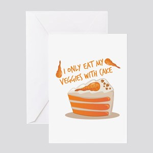 Veggie Cake Greeting Cards