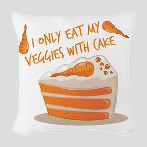 Veggie Cake Woven Throw Pillow