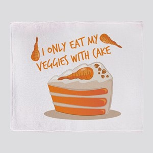 Veggie Cake Throw Blanket