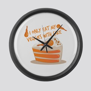 Veggie Cake Large Wall Clock