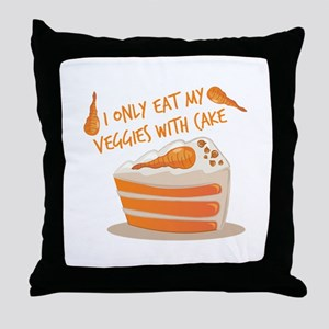 Veggie Cake Throw Pillow