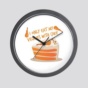 Veggie Cake Wall Clock