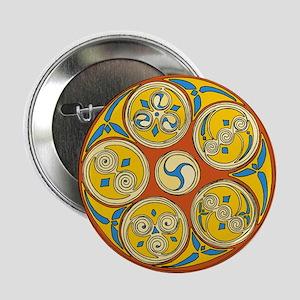 Lughnasadh Celtic Spiral Button