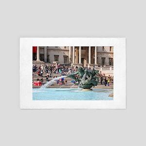 Fountain, Trafalgar Square, London, En 4' x 6' Rug
