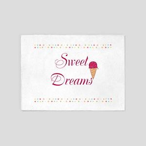 Cute Funny Sweet Dreams 5'x7'Area Rug