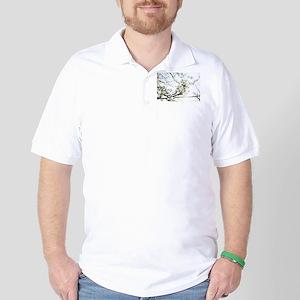 White Blossoms I Golf Shirt