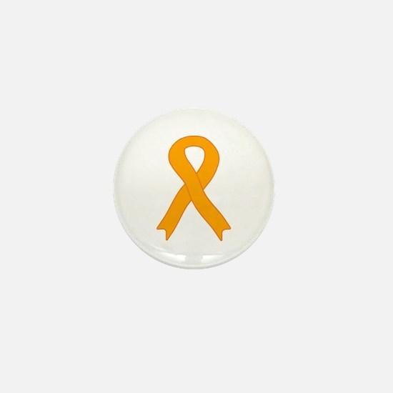 Orange Ribbon Mini Button