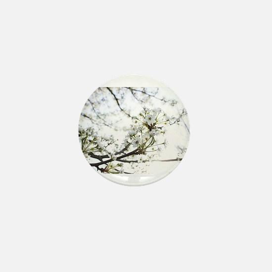 White Blossoms I Mini Button