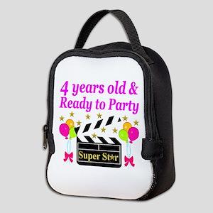 4TH BIRTHDAY Neoprene Lunch Bag