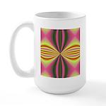 Pink Lady Fractal Large Mug