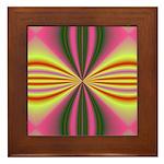 Pink Lady Fractal Framed Tile