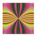 Pink Lady Fractal Tile Coaster