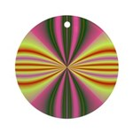 Pink Lady Fractal Ornament (Round)